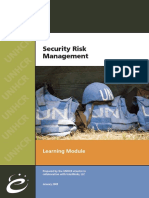 UNHCR - Security Risk Management
