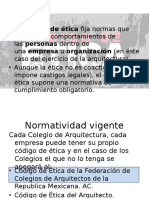 Código de Ética en Arquitectura