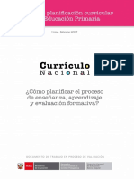 Cartilla Planificacion Curricular - documento de trabajo MINEDU