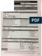 Guided Reading Plan