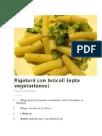 Rigatoni Con Brócoli