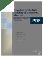 Safe Handling Hazardous Materials Procedures in Industrial