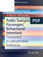 Public Transport Passenger's Behavioral Intentions - Paratransit in Jabodetabek Indonesia
