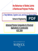 Aspects on the Behaviour of Bolted Joints ForPultruded Reinforced Polymer Profiles
