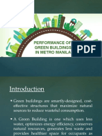 Performance of Green Buildings in Metro Manila