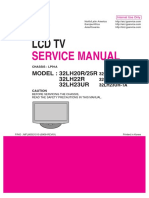 MANUAL SERVICE TV LG 32LH20R