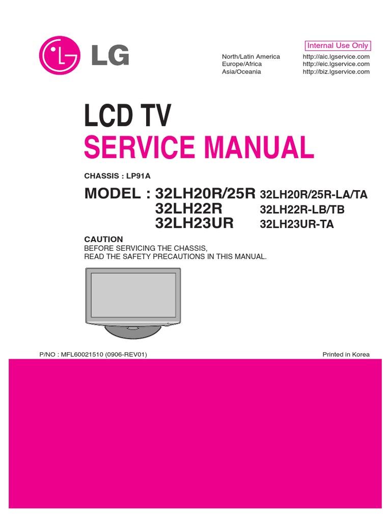 Manual Service Tv Lg 32lh20r Printed Circuit Board Soldering