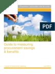 Guide to Measuring Procurement Savings