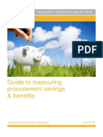 Guide to Measuring Procurement Savings