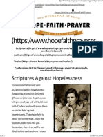 Scriptures Against Hopelessness _ HopeFaithPrayer
