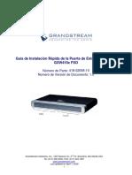 Gxw410x Quickstart guide Spanish