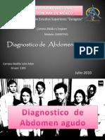 Diagnostico de Abdomen Agudo