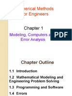 Chapter 1- Modelling, Computers and Error Analysis
