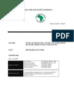 Tunisie - Etude de Protection Inondations Des Zones Nord EteEst Et Du Grand Tunis - Rapport d'Évaluation
