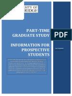 Cambridge Part-Time Graduate Study