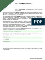 Aplicaciones Web (Tema 2 El Lenguaje HTML)