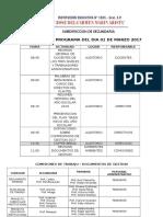Propuesta de Programa Del Dia 01 de Marzo 2017
