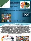Recursos Naturales y Minerales.
