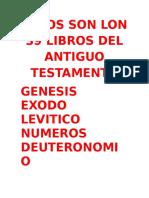 Estos Son Lon 39 Libros Del Antiguo Testamento