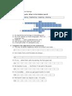 Workbook exercises 3 eso