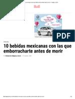 10 Bebidas Mexicanas Con Las Que Debes Emborracharte Antes de Morir ‹ Nalgas y Libros