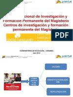 Sistema nacional de investigacin y formacion permanente