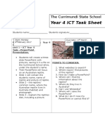 yr 4 task sheet for ict