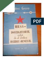 URSS Instigatorul celui de-al doilea Război Mondial - Andrei Groza