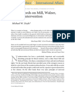 "Michael W. Doyle (2009) ""a Few Words on Mill, Walzer, And Nonintervention"""