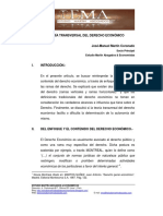 La Teoría Transversal Del Derecho Económico (MARTIN C. José-Manuel)