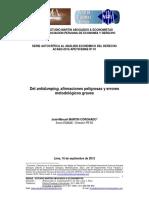 Del Antidumping Afirmaciones Peligrosas y Errores Metodologicos Graves (MARTIN CORONADO, José-Manuel)