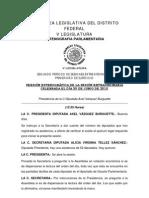 Sesión extraordinaria del 30/06/2010 para aprobar el PDDU-Tlalpan etc.