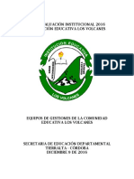 Autoevaluacion Institucional i e Los Volcanes 2016