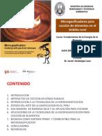 Microgasificadores Para Cocción de Alimentos en El Ambito Rural