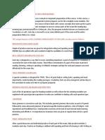 TOEFL Factual Sheet
