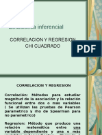 Estadística Inferencial I (Correlacion Regresion y Chi Cuadrado)