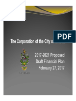 2017 City of Nelson Financial Plan Presentation FINAL