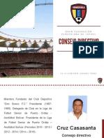 Tony Carrasco, candidato a la FVF, presentó oficialmente a su Consejo Directivo