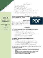 leah bennett resume