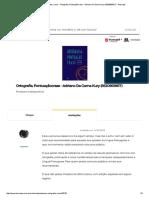 Pontuação, Ortografia, Crase - Ortografia, Pontuaçãocrase - Adriano Da Gama Kury (8520909817) - Buscapé
