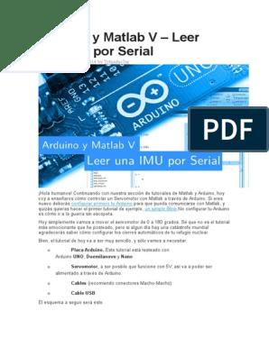 Arduino y Matlab proyecto
