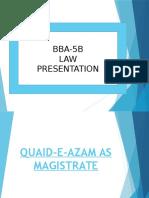 Quaid-e-Azam as Magistrate