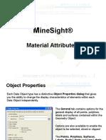 MineSight Material Attributes