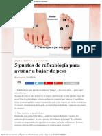 5 puntos de reflexología para ayudar a bajar de peso _ Evolución consciente