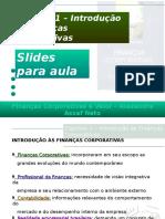 Cap 01 - Introdução às Finanças Corporativas.ppt
