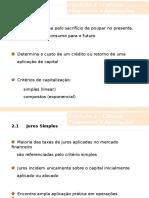 Cap 02 - Cálculo Financeiro e Aplicações.ppt