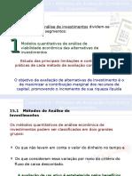 Cap 15 - Métodos de Avaliação Econômica de Investimentos.ppt
