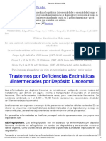 Enfermedades Por Deposito Lisosomal