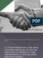Un Enforceable Contract