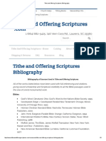 Tithe and Offering Scriptures Bibliography